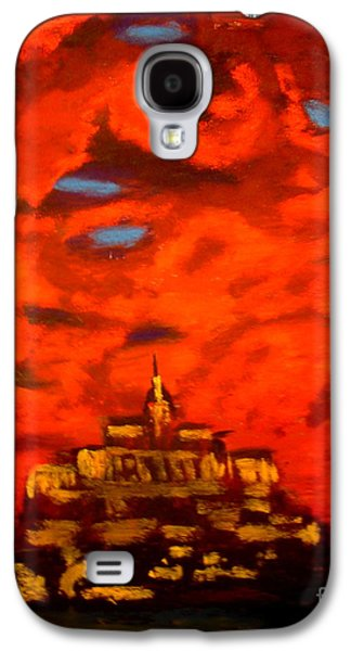 Bible Pastels Galaxy S4 Cases - Mt Saint Michael  Galaxy S4 Case by Joseph Hawkins
