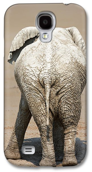 Muddy Elephant With Funny Stance  Galaxy S4 Case by Johan Swanepoel