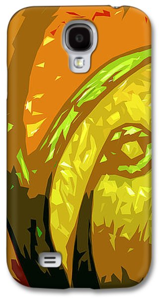 Abstract Digital Digital Galaxy S4 Cases - Mudlark Panel 1 Galaxy S4 Case by Ryan Burton