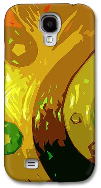 Abstract Digital Digital Galaxy S4 Cases - Mudlark Panel 2 Galaxy S4 Case by Ryan Burton