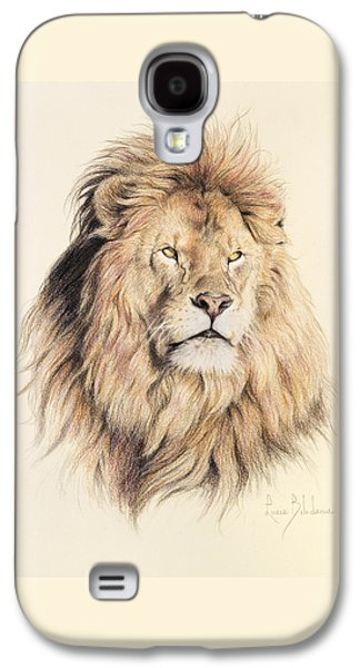 Animals Drawings Galaxy S4 Cases - Mufasa Galaxy S4 Case by Lucie Bilodeau