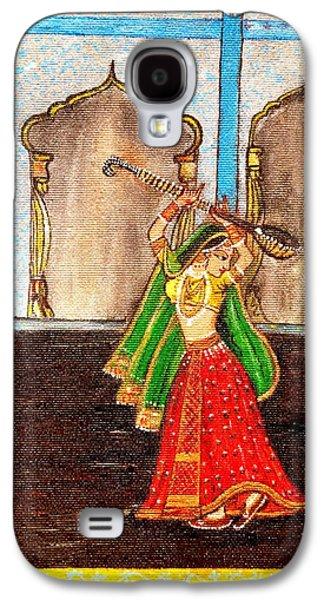Dance Floor Paintings Galaxy S4 Cases - Mughal Dancer Galaxy S4 Case by Annie Malik