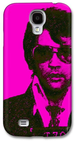 Elvis Presley Galaxy S4 Cases - Mugshot Elvis Presley m80 Galaxy S4 Case by Wingsdomain Art and Photography