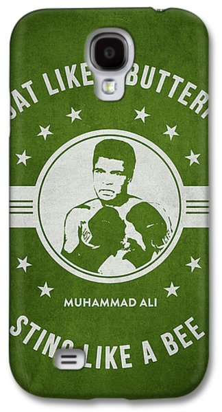 Heavyweight Digital Galaxy S4 Cases - Muhammad Ali - Green Galaxy S4 Case by Aged Pixel