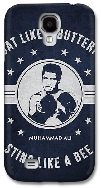 Heavyweight Digital Galaxy S4 Cases - Muhammad Ali - Navy Blue Galaxy S4 Case by Aged Pixel