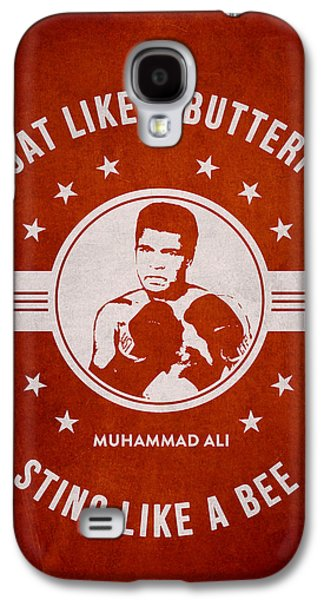 Boxer Digital Galaxy S4 Cases - Muhammad Ali - Red Galaxy S4 Case by Aged Pixel
