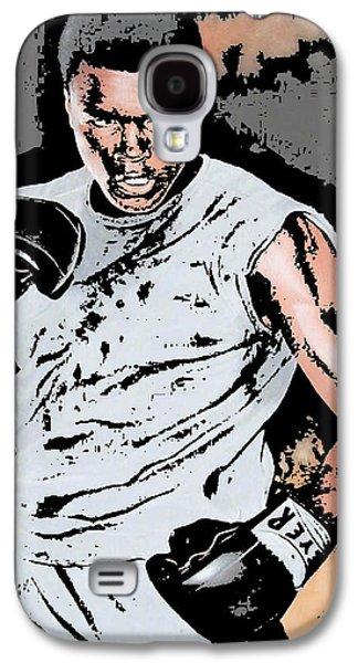 Boxer Digital Art Galaxy S4 Cases - Muhammad Ali Galaxy S4 Case by Tanysha Bennett-Wilson