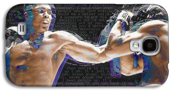 Recently Sold -  - Boxer Galaxy S4 Cases - Muhammad Ali Galaxy S4 Case by Tony Rubino
