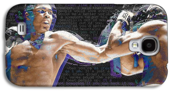 Heavyweight Galaxy S4 Cases - Muhammad Ali Galaxy S4 Case by Tony Rubino