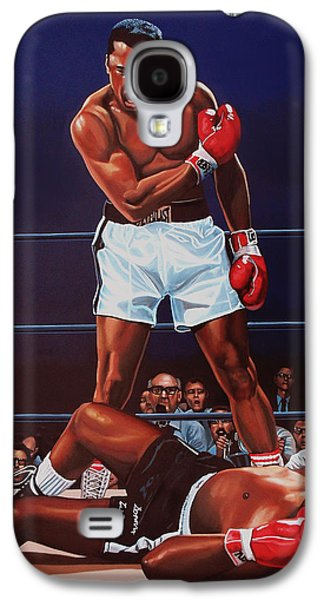 Work Of Art Galaxy S4 Cases - Muhammad Ali versus Sonny Liston Galaxy S4 Case by Paul  Meijering