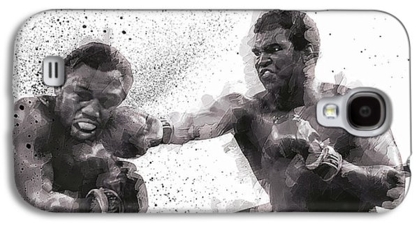 Heavyweight Digital Galaxy S4 Cases - MUHAMMAD ALI vs JOE FRAZIER Galaxy S4 Case by Daniel Hagerman