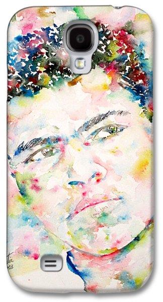 Boxer Galaxy S4 Cases - MUHAMMAD ALI - watercolor portrait.1 Galaxy S4 Case by Fabrizio Cassetta