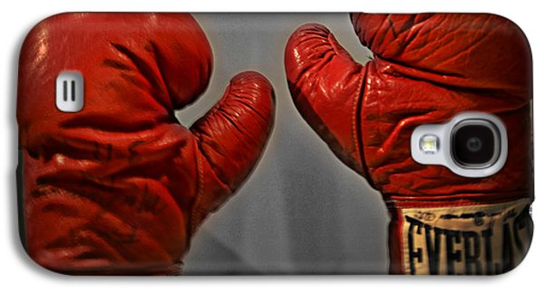 Boxer Digital Galaxy S4 Cases - Muhammad Alis Boxing Gloves Galaxy S4 Case by Bill Cannon
