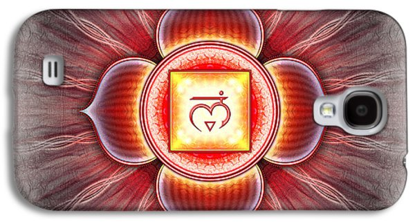 Healing Posters Galaxy S4 Cases - Muladhara Chakra Series IV Galaxy S4 Case by Dirk Czarnota