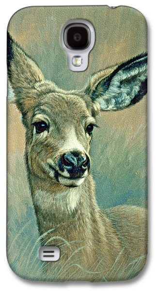 Muley Fawn At Six Months Galaxy S4 Case by Paul Krapf