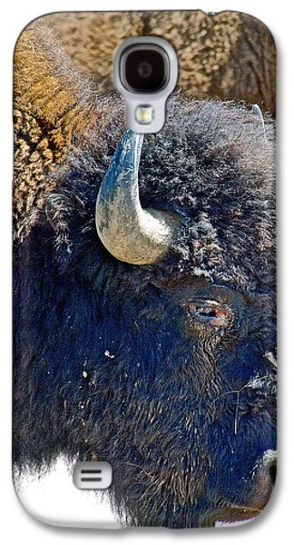 Bison Digital Art Galaxy S4 Cases - Multi-color-Eyed Bison near Wildlife Loop Road in Custer State Park-South Dakota Galaxy S4 Case by Ruth Hager
