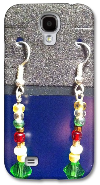 Round Jewelry Galaxy S4 Cases - Multi Colored Dangle Earrings Galaxy S4 Case by Kimberly Johnson