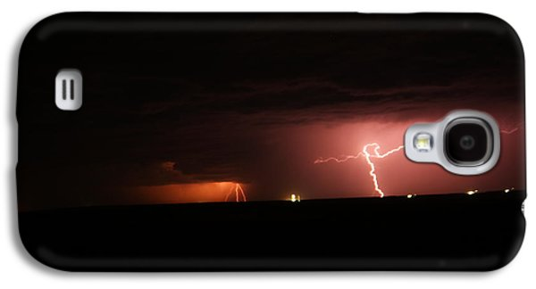 Summer Storm Galaxy S4 Cases - Multible down strikes in North Dakota Galaxy S4 Case by Jeff  Swan