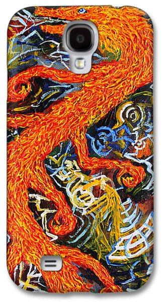 Morphing Galaxy S4 Cases - Multidimensional Flaming Serpent Galaxy S4 Case by Maxwell Hanson
