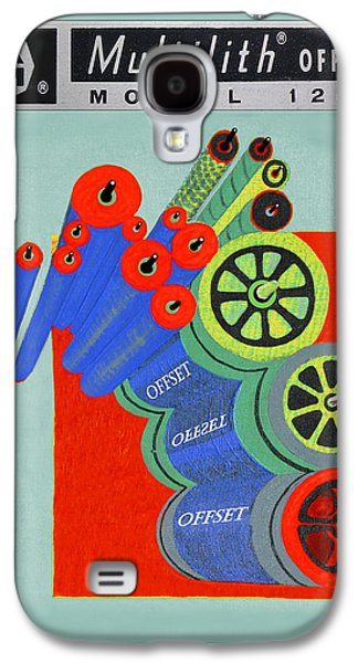 Replacing Galaxy S4 Cases - Multilith 1250 ink rollers cylinders Galaxy S4 Case by Jack Pumphrey