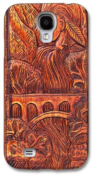 Native Reliefs Galaxy S4 Cases - Multnomah Falls Spirit Galaxy S4 Case by Carlo Olkeriil