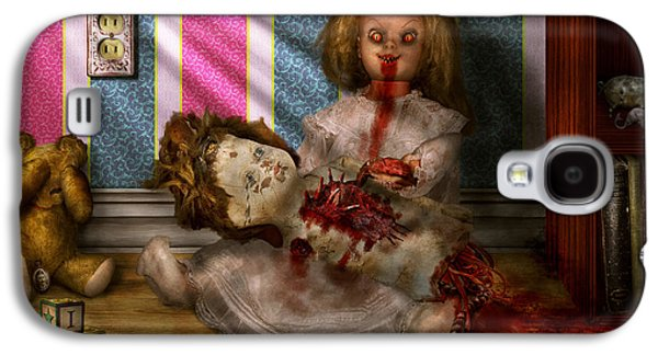 Creepy Digital Galaxy S4 Cases - Murder - Appetite for blood Galaxy S4 Case by Mike Savad
