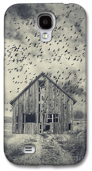 Creepy Galaxy S4 Cases - Murder of Crows Galaxy S4 Case by Edward Fielding