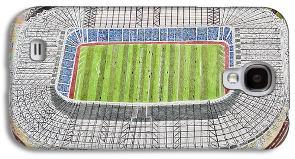 Rugby Paintings Galaxy S4 Cases - Murrayfield Stadia Art - Scotland Rugby Union Galaxy S4 Case by Brian Casey