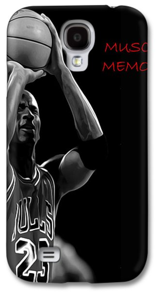 Nike Paintings Galaxy S4 Cases - Muscle Memory Galaxy S4 Case by Brian Reaves