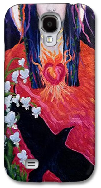 Self Discovery Paintings Galaxy S4 Cases - Muse Within Galaxy S4 Case by Kelly Kelenic
