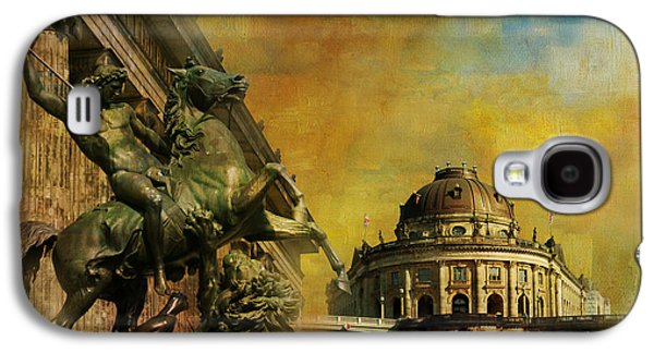 Berlin Germany Paintings Galaxy S4 Cases - Museum Island Galaxy S4 Case by Catf