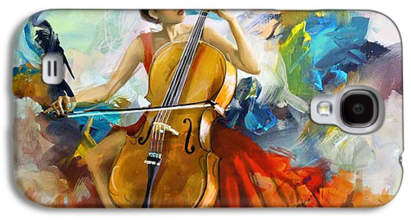 Furnishing Galaxy S4 Cases - Music Colors and Beauty Galaxy S4 Case by Corporate Art Task Force