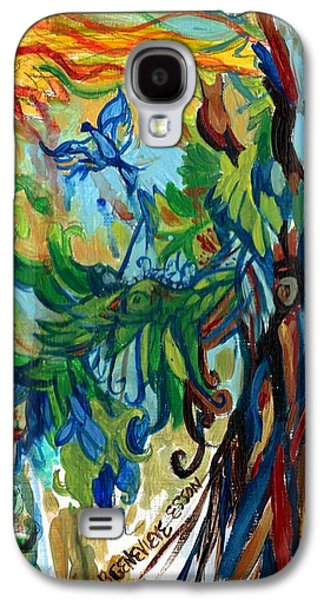 Yellow Beak Paintings Galaxy S4 Cases - Music In Bird Of Tree Galaxy S4 Case by Genevieve Esson
