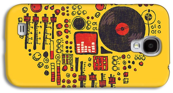 Sound Digital Galaxy S4 Cases - Music in every hearbeat Galaxy S4 Case by Budi Kwan