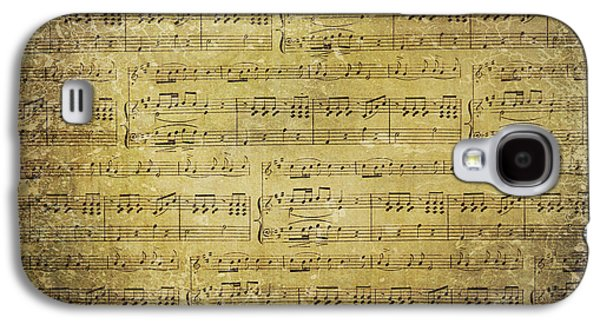 Old Sheet Music Galaxy S4 Cases - Music Is What Feelings Sound Like Galaxy S4 Case by Sylvia Cook