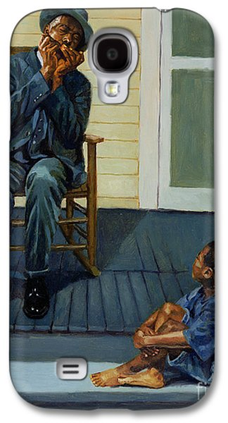 Rocking Chairs Galaxy S4 Cases - Music Lesson Number 1 Galaxy S4 Case by Colin Bootman