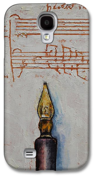 Music Score Galaxy S4 Cases - Music Galaxy S4 Case by Michael Creese