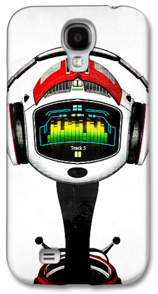 Frederico Borges Galaxy S4 Cases - Music roboto Galaxy S4 Case by Frederico Borges