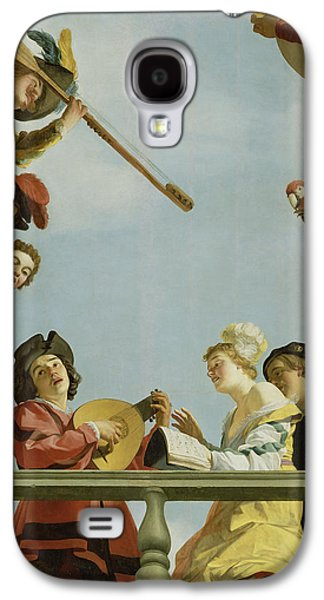 Lute Paintings Galaxy S4 Cases - Musical Group on a Balcony Galaxy S4 Case by Gerrit van Honthorst