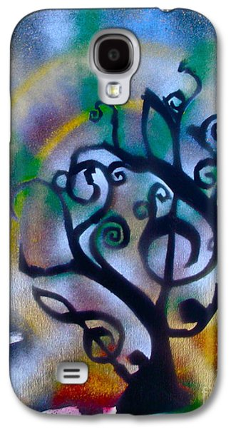 Free Speech Galaxy S4 Cases - Musical tree Blue Galaxy S4 Case by Tony B Conscious
