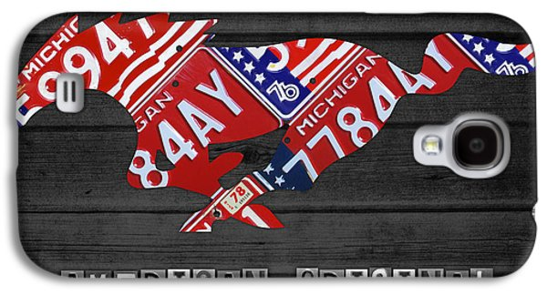 Mustang Galaxy S4 Cases - Mustang An American Original License Plate Art Galaxy S4 Case by Design Turnpike