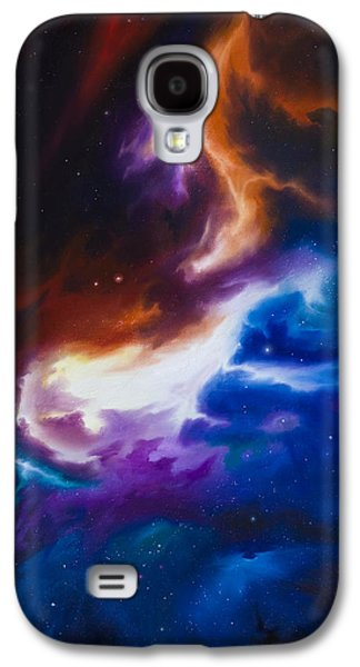 Headstones Paintings Galaxy S4 Cases - Mutara Nebula Galaxy S4 Case by James Christopher Hill