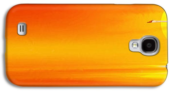 Flying Animal Galaxy S4 Cases - Mute Sunset Galaxy S4 Case by John Edwards