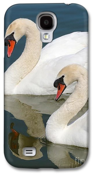 Swan Pair Galaxy S4 Cases - Mute Swan Pair Profile Galaxy S4 Case by Carol Groenen