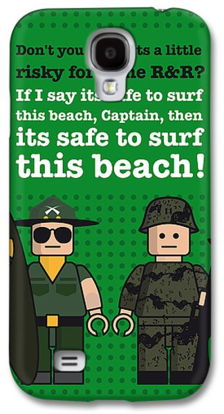 Green Posters Digital Galaxy S4 Cases - My apocalypse now lego dialogue poster Galaxy S4 Case by Chungkong Art