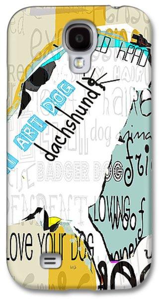 Dachshund Digital Galaxy S4 Cases - My Art Dachshund Galaxy S4 Case by Bri Buckley