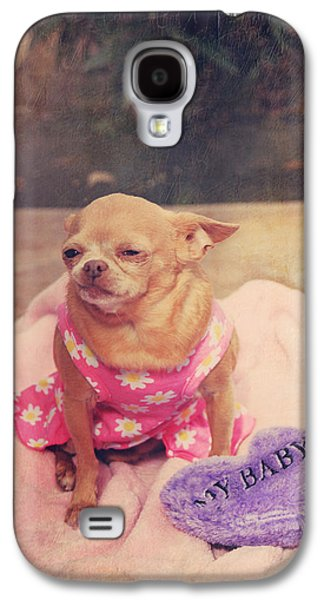 Canines Digital Galaxy S4 Cases - My Baby Galaxy S4 Case by Laurie Search