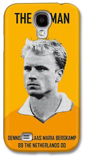My Bergkamp Soccer Legend Poster Galaxy S4 Case by Chungkong Art