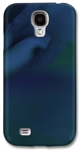 Blue Abstracts Galaxy S4 Cases - My Blue Eternal Galaxy S4 Case by  The Art Of Marilyn Ridoutt-Greene