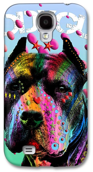 Dogs Digital Galaxy S4 Cases - My Bodyguard Galaxy S4 Case by Mark Ashkenazi